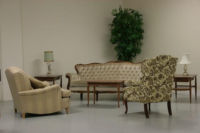starý obývací pokoj