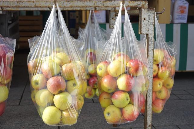 ovoce v sáčcích