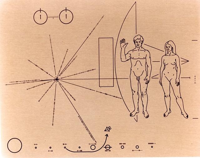 Zlatá plaketa na sondách Mariner